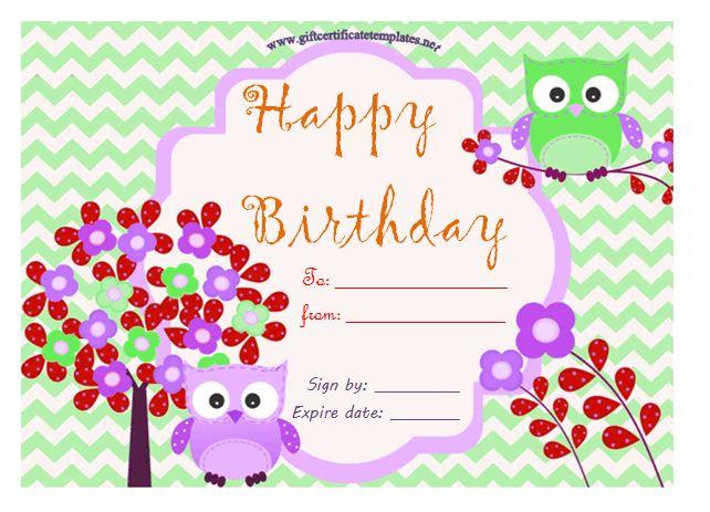 birthday bumps gift certificate