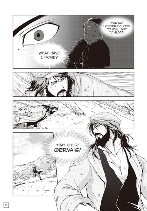 Page 36 of Manga Classics: Les Miserables first chapter. You can read the full chapter at  http://goo.gl/yIvaV4  #MangaClassics #LesMiserables #LesMis #LesMiz #VictorHugo #jeanvaljean #24601