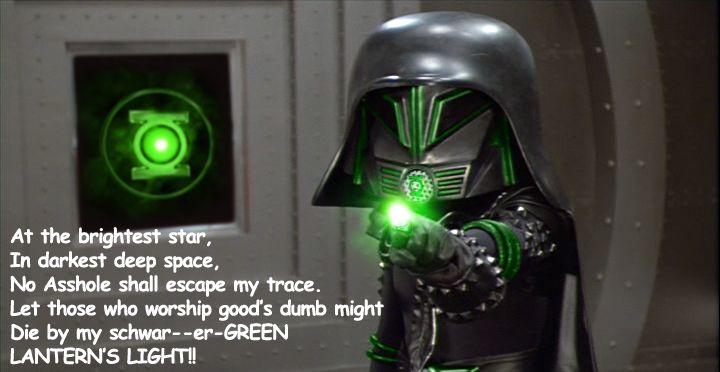 Dark Helmet from Spaceballs as a bad Green Lantern