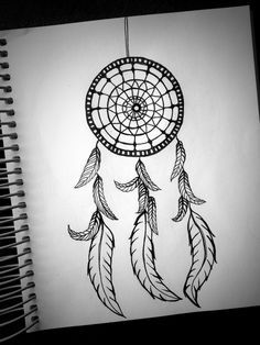 easy dreamcatcher drawing with quote - Google Search