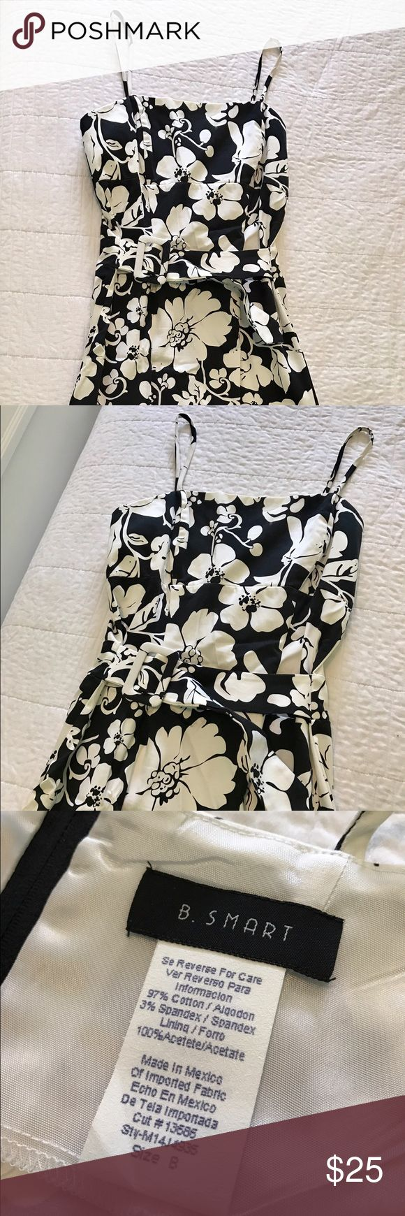 Gorgeous Black and White Cocktail Dress. Black and White Cocktail Dress New without Tag. Belt buckle makes it so stylish! Dresses Prom
