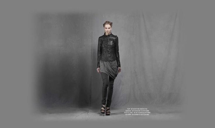 Malloni black collection S13 #top #slacks  #shoes #jacket