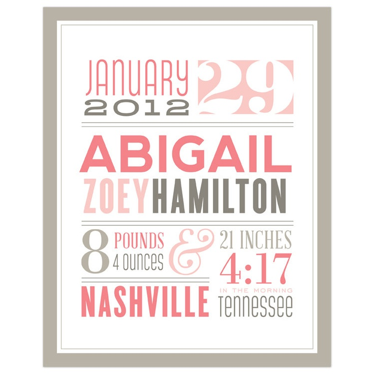 27 best Birth frame images – Personalized Birth Announcement