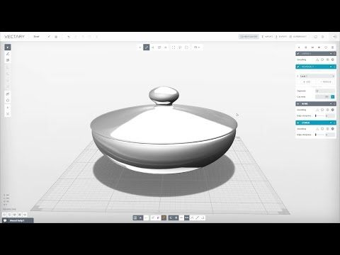 VECTARY | 3D Modeling Tutorial | Bowl (beta 1.2.6) - YouTube