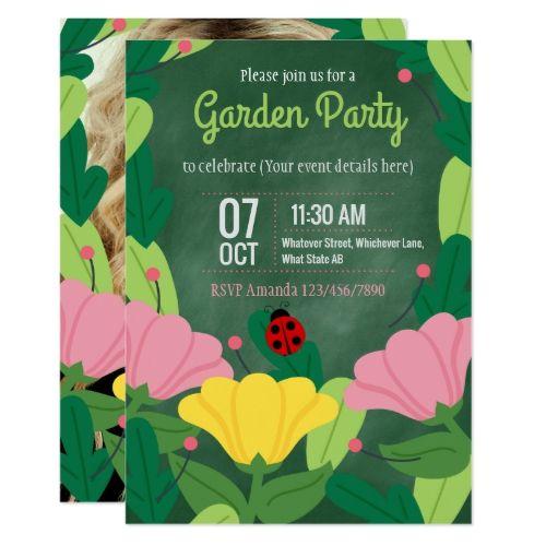 The 25 best Garden party invitations ideas on Pinterest