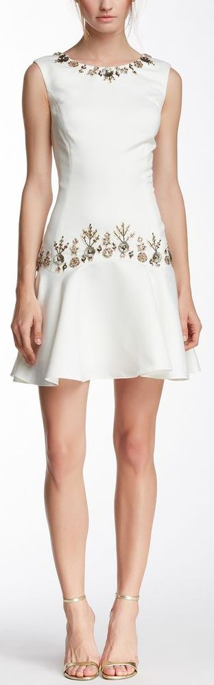 Cute dress but I think I'd like it better with just an embellished waist.