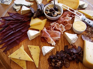 Variety of our cheese and BILTONG - dried meat - to be enjoyed with our wines