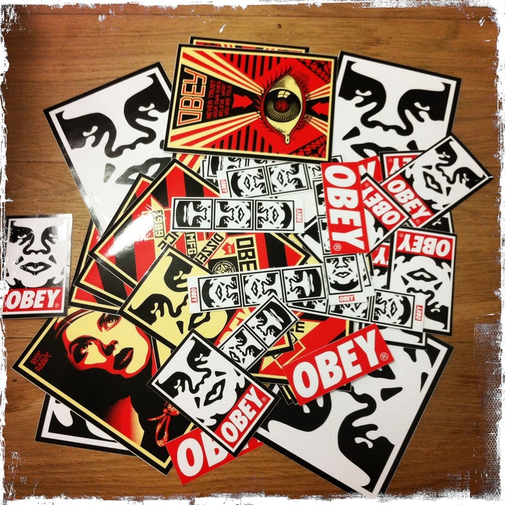 Free stickers obey www stoemp be