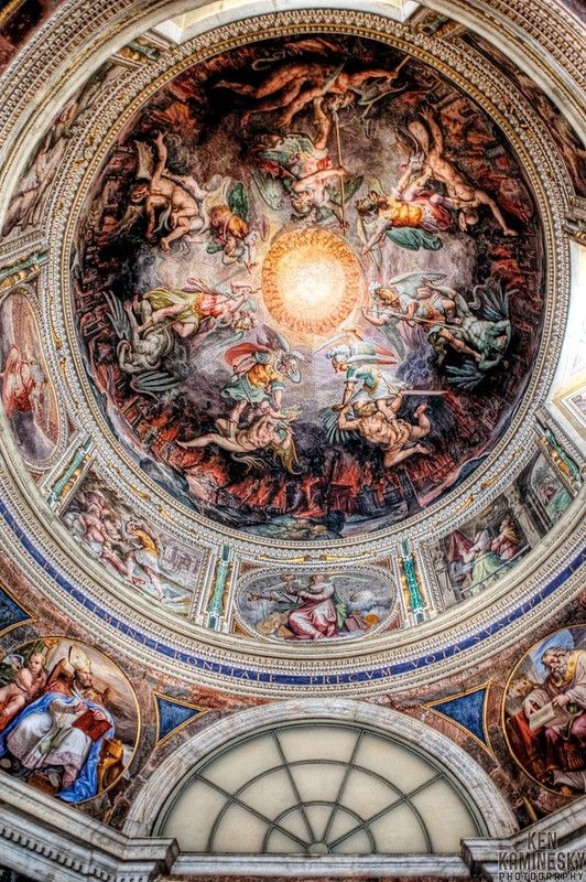 While touring Vatican City this is one of the amazing ceilings in the Vatican Museums. A wonderful sight on a dream vacation. #monogramsvacation