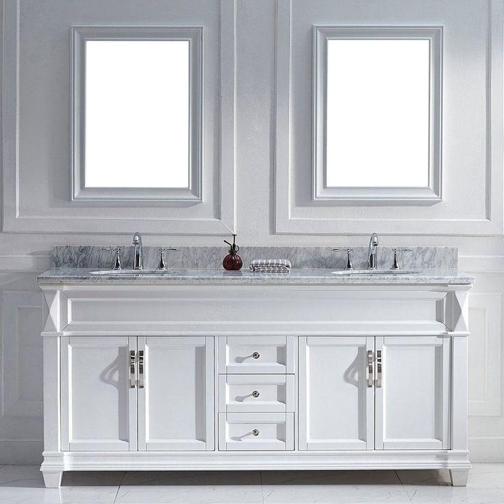 Virtu USA Victoria 72-inch White Double Round Sink Vanity Set (72-in. Victoria White Double Round Sink Vanity), Size Double Vanities