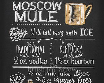 Moscow Mule printable chalkboard style by MoulageCollection