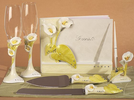 knife bridal wedding accessory set wedding accessories and lilies