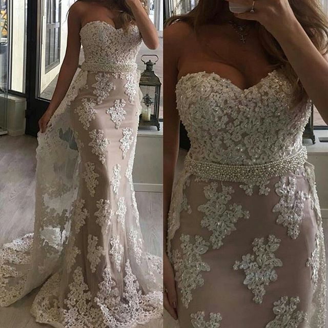 Glamorous Mermaid Sweetheart Lace Long Prom/Evening Dress with