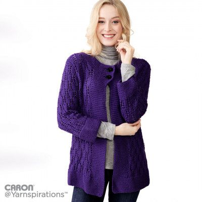 Free Intermediate Women's Cardigan Knit Pattern
