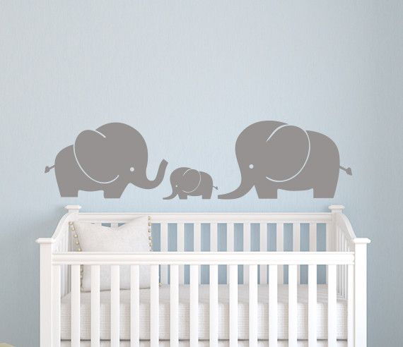 Elefantenfamilie Wall Decal Kinderzimmer Art Decor Vinyl