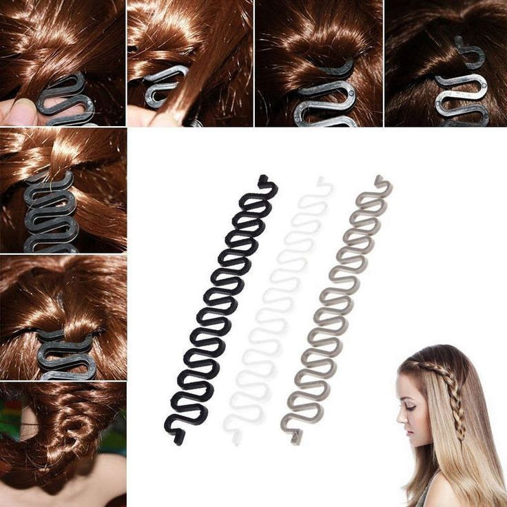 If you want to get that perfect, intricate hair braid design the easy way, then this little plastic tool will help you tremendously. It has wavy grooves in it so that you can weave the hair in and out