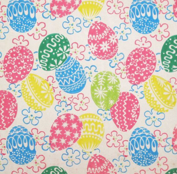 32 best vintage easter images on pinterest vintage easter old reserved vintage tie tie gift wrap wrapping paper pastel screened easter eggs 1950s negle Choice Image