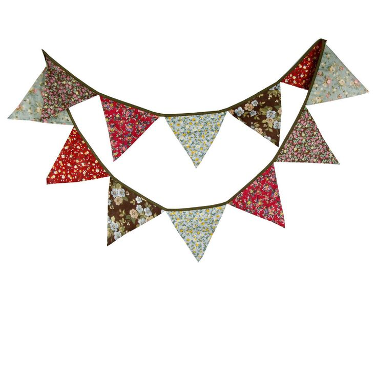 1pcs 3.2M Retro Home Garden Cotton Hanging Flags Wedding Decoration Bunting Banners Party Decor Brown Red Take Photo Pennant