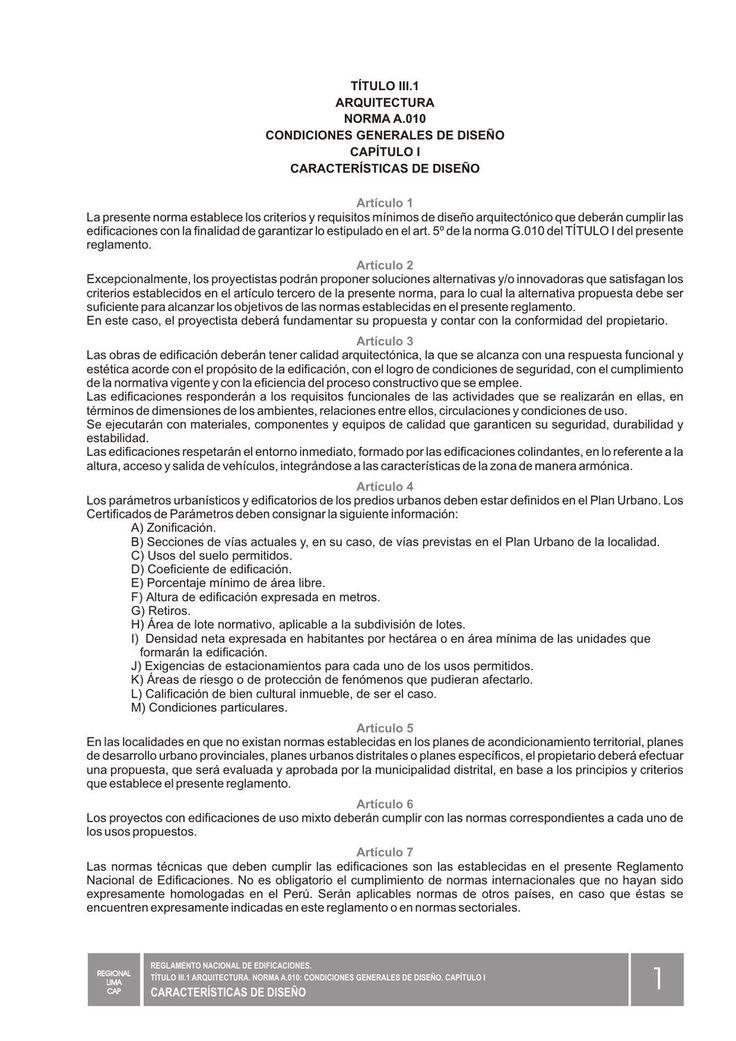 Reglamento Nacional de Construccion ilustrado por el Colegio de Arquitectos del Perú