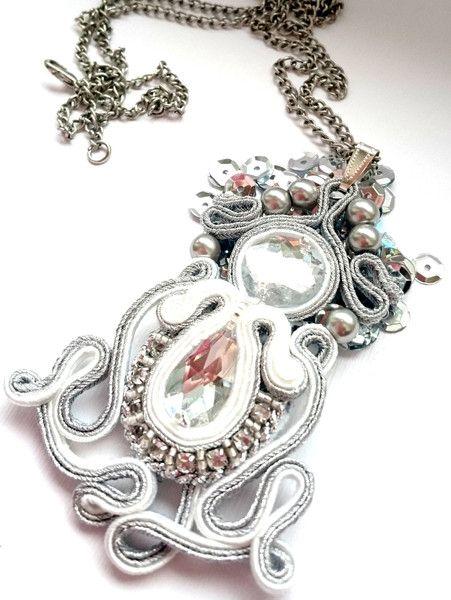 """Zawieszka+sutasz+w+Cristallin+na+DaWanda.com Facebook: """"Soutache, beads, Shibori Cristallin, sutasz i koraliki"""""""