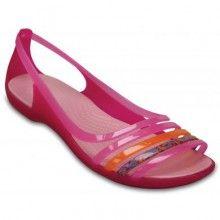 Crocs růžové sandály Isabella Huarache Flat Petal Pink/Coral - 1520 Kč
