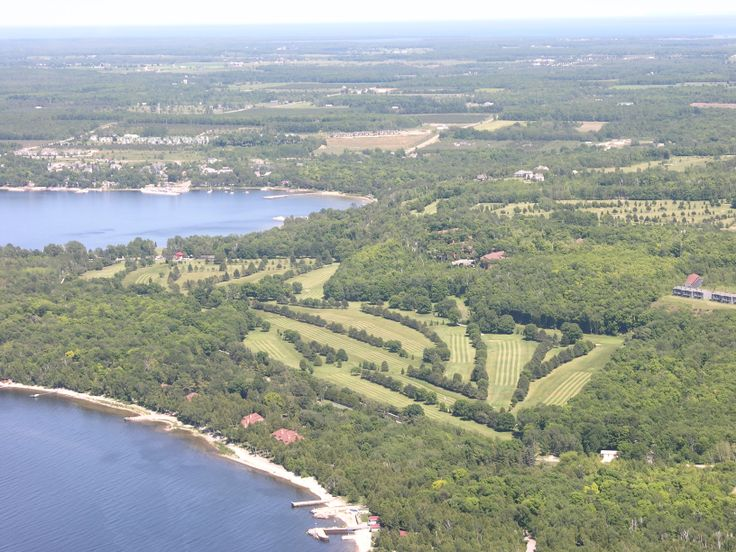 High Quality Alpine Golf Course Ariel View. Door CountyGolf ...