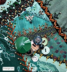 Crazy quilt block 87 free pattern