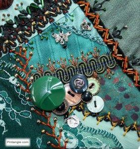 Crazy quilt block 87 free pattern