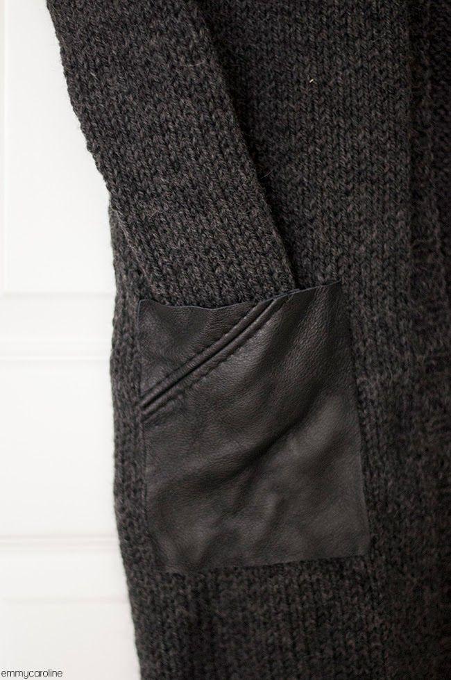 Кожаные карманы на свитере (Diy) / Свитер или кардиган: вторая жизнь / Своими руками - выкройки, переделка одежды, декор интерьера своими руками - от ВТОРАЯ УЛИЦА