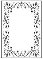 Nellie Snellen Embossing Folder - Heather Border Rectangle Frame 1