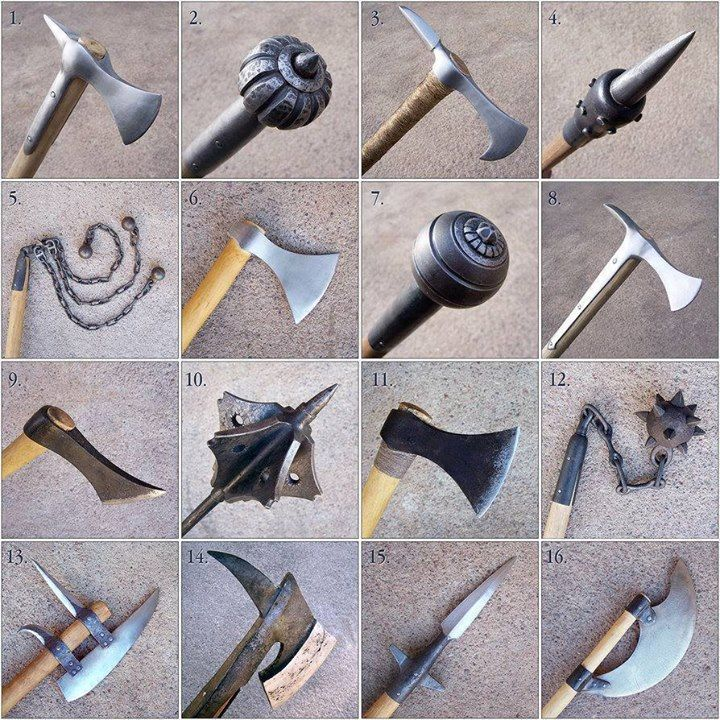 medieval weapons. bad link, though. It is just a picture and doesn't say what these are.