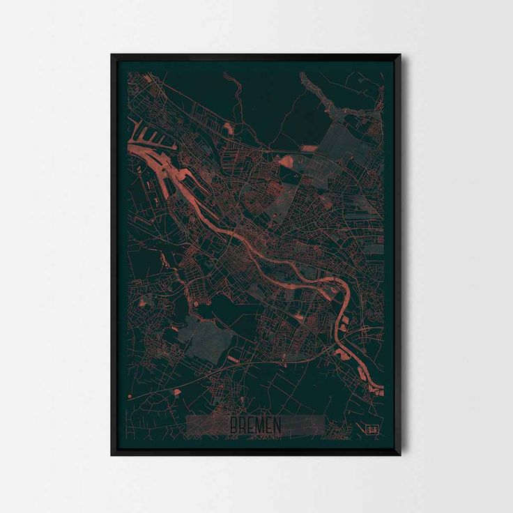 Bremen city posters - Art posters and prints of your favorite city. Unique design of a map. Perfect for your house and office or as a gift for friend.