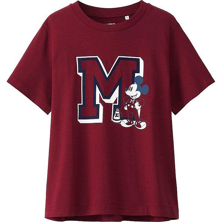 T-Shirt Manches Courtes Disney (Varsity) FEMME, UNIQLO, 14,90€