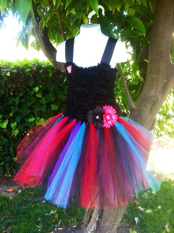 Hey, I found this really awesome Etsy listing at https://www.etsy.com/listing/155345679/monster-high-inspired-tutu-dress
