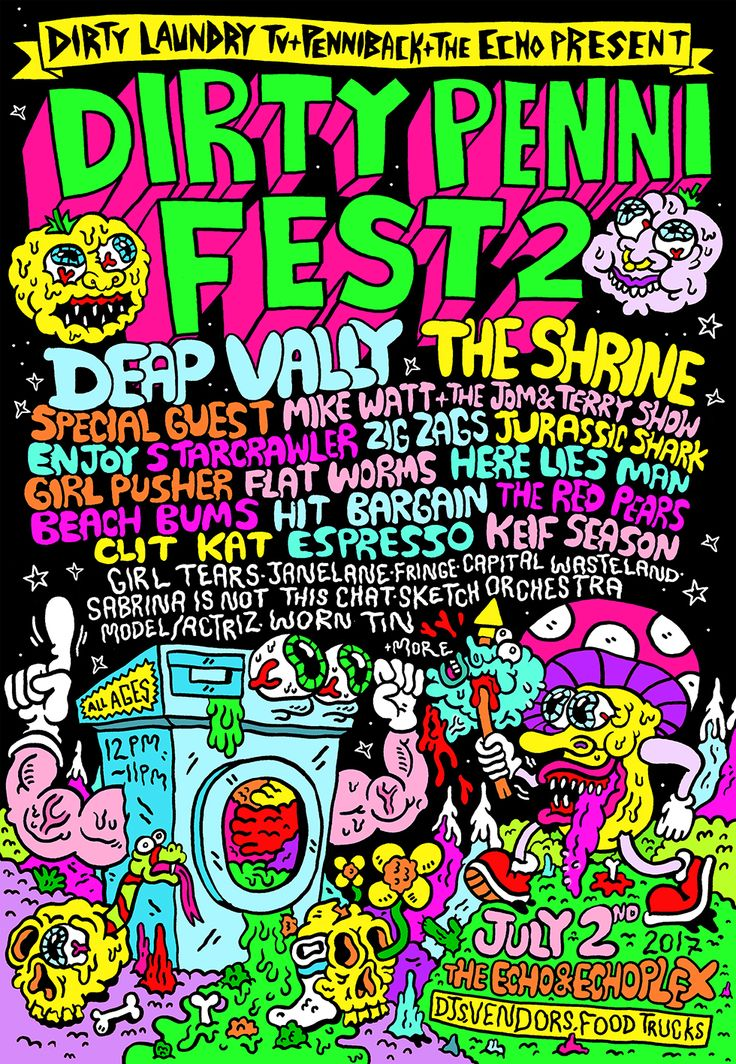 Dirty Penni Fest 2 poster by Russell Taysom