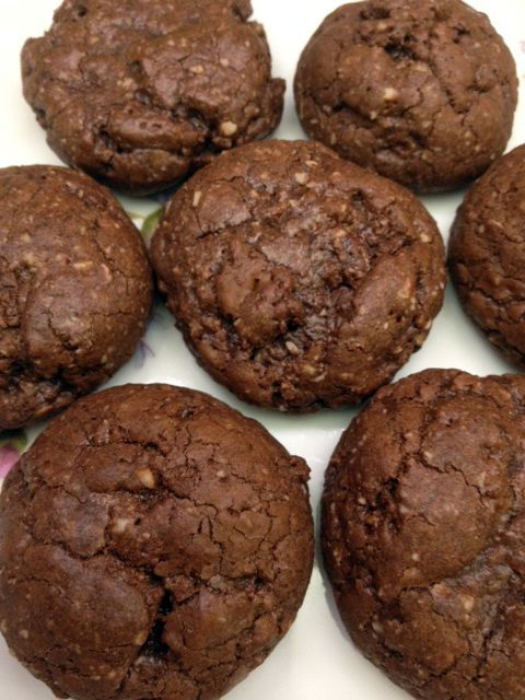 Gluten free dark chocolate almond meal cookies-- To try with @alterecosf Blackout or Velvet and @drbronners fair trade coconut oil!