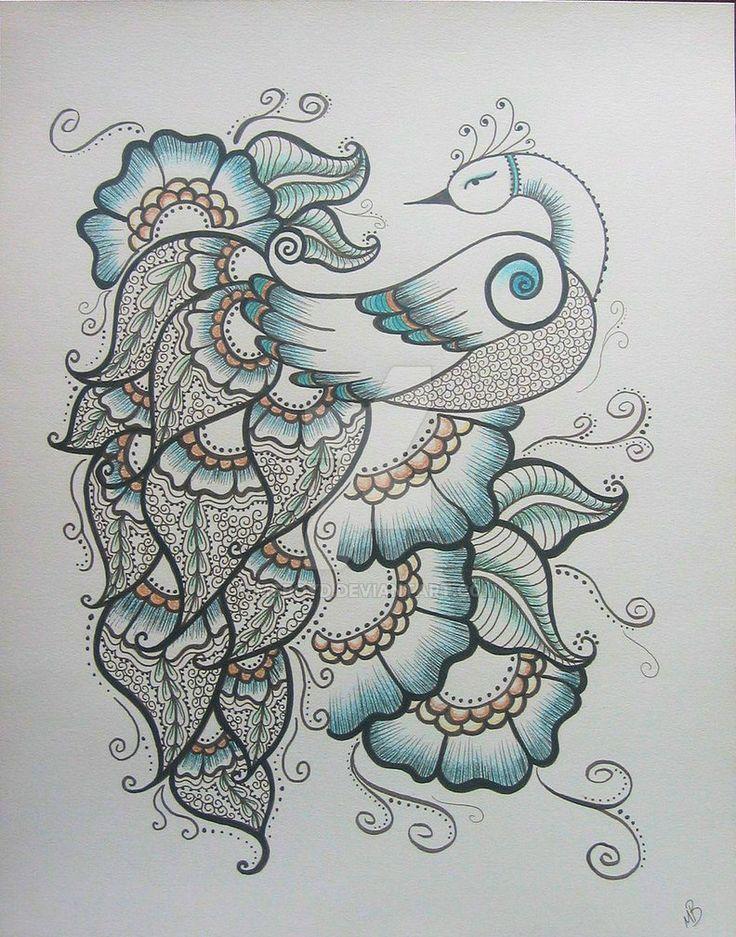 Mehndi Patterns On Paper : Henna peacock by msboyd on deviantart peacocks
