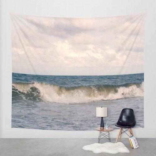 Ocean-Wandbehang, Foto Wandbehang, nautische Gobelin Wandbehang, Küsten große Wanddekoration, Natur Wandbehang, modernes Dekor, Strand Wandbehang