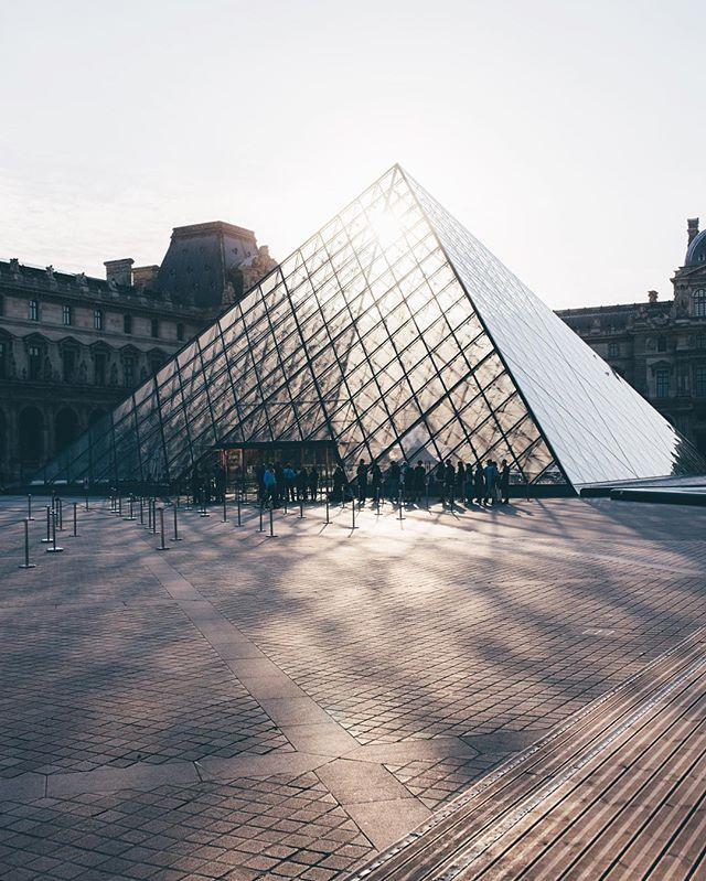 Morning light at Louvre, Paris.