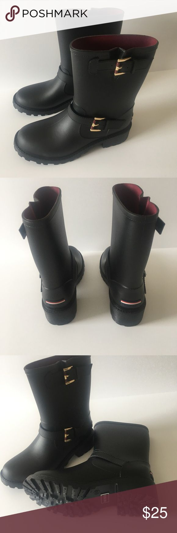 Women's Tommy Hilfiger Rain Boots Brand New, Black Tommy Hilfiger Rain Boots Size 7. Tommy Hilfiger Shoes Winter & Rain Boots