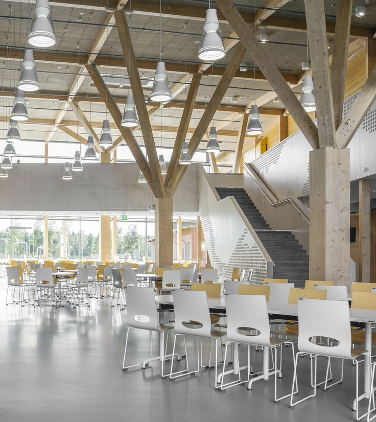 Gallery of The Purity of Expressive Timber Structure Celebrated in Finland's Pudasjärvi Campus - 17