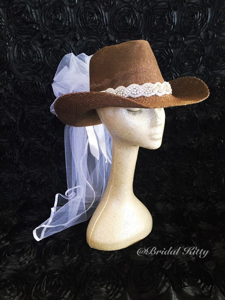 Cowgirl Bachelorette Hat perfect for Bachelorette Party of Bridal Shower. Country Western Bachelorette Theme
