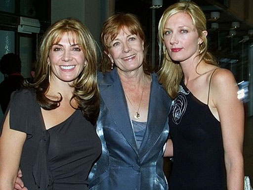 "British actress Vanessa Redgrave, center, poses with her daughters, the late actress Natasha Richardson, left, and actress Joely Richardson, as they arrive for the opening of the ""Typically British"" exhibit at Pompidou Center in Paris on Oct. 3, 2000. Natasha died in March 2009 after suffering a head injury during a skiing accident."