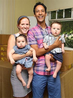 Ironically, Mia is pale with red hair, so Danny Pudi's wife and children might be a good approximation for any future children in the Artifacts of Lumin series.