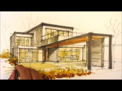 architectural sketching house I