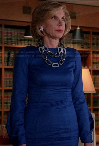 Best 25 good wife ideas on pinterest healthy marriage wife and dianes blue long sleeved dress on the good wife outfit details http fandeluxe PDF