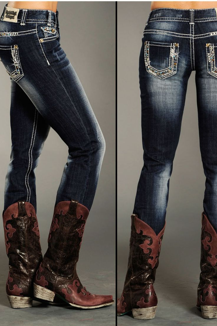 """Rock and Roll Cowgirl Women's Bling Skinny Jean - Exclusive #Sale! Discount code """"QUICKSHIP"""" saves 20% off sale price!"""