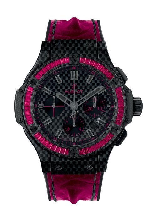Big Bang Carbon Bezel Baguette Rubies 44mm Chronograph watch from Hublot