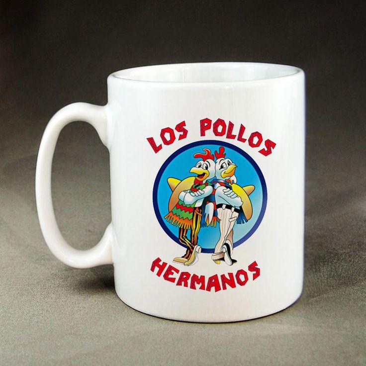 Los Pollos Hermanos Mug - 11oz Ceramic Coffee Tea Breaking Bad Mugs #Handmade