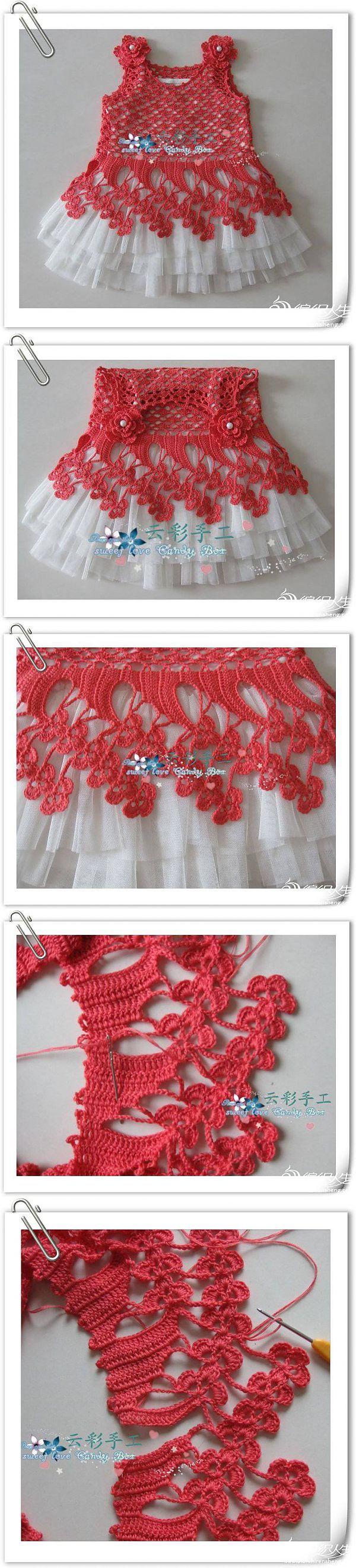 Платьице для девочки с цветочными лучами. | Вязание крючок детям | Постила